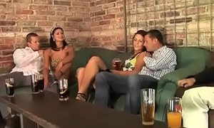 Epic foursome with young boys and hot milf