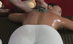 Massage Rooms Young Teen masseuse is ruptured and fucked by older chap
