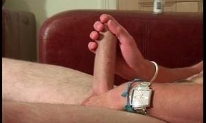 Matt H masturbating on sofa gay peel