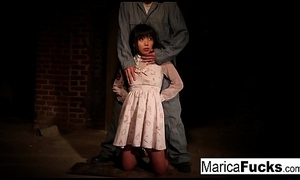 Marica acquires stripped and fondled hither the basement