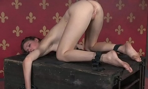 BDSM seating for toyed by maledom after a long time tiedup