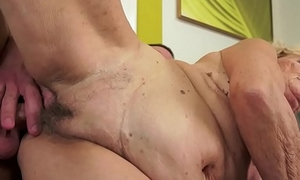 Chubby grandma banged after slow foreplay