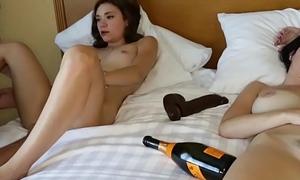 Rhaya Shyne fucks by step bro beside her mom on bed