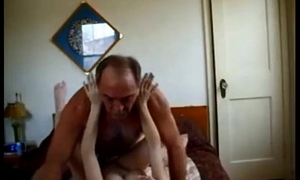 Old guy creampies sexy establishing pamper on homemade