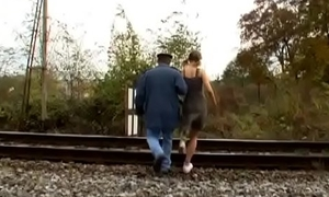 Age-old man gets treated nicely by a much younger bitch